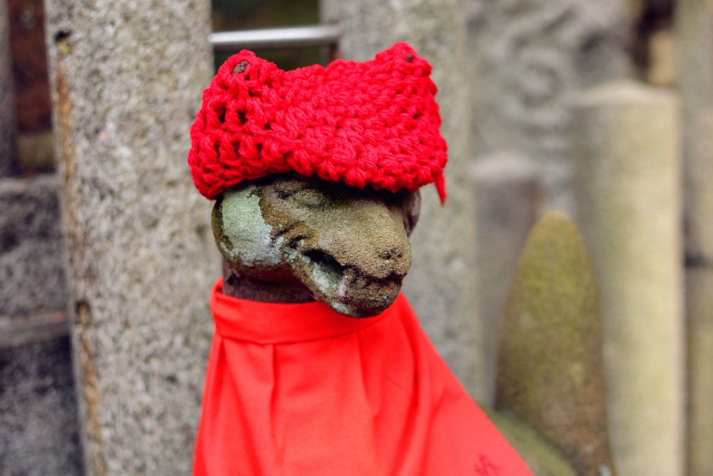 this one's got a nice knitted hat for the winter