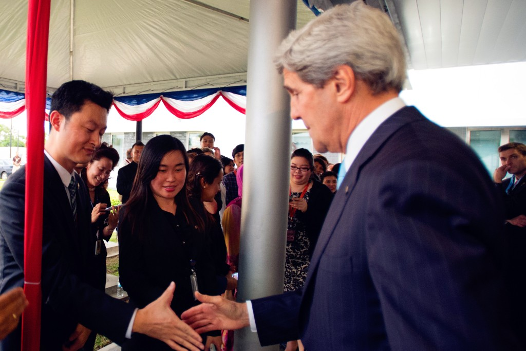 meeting Secretary Kerry