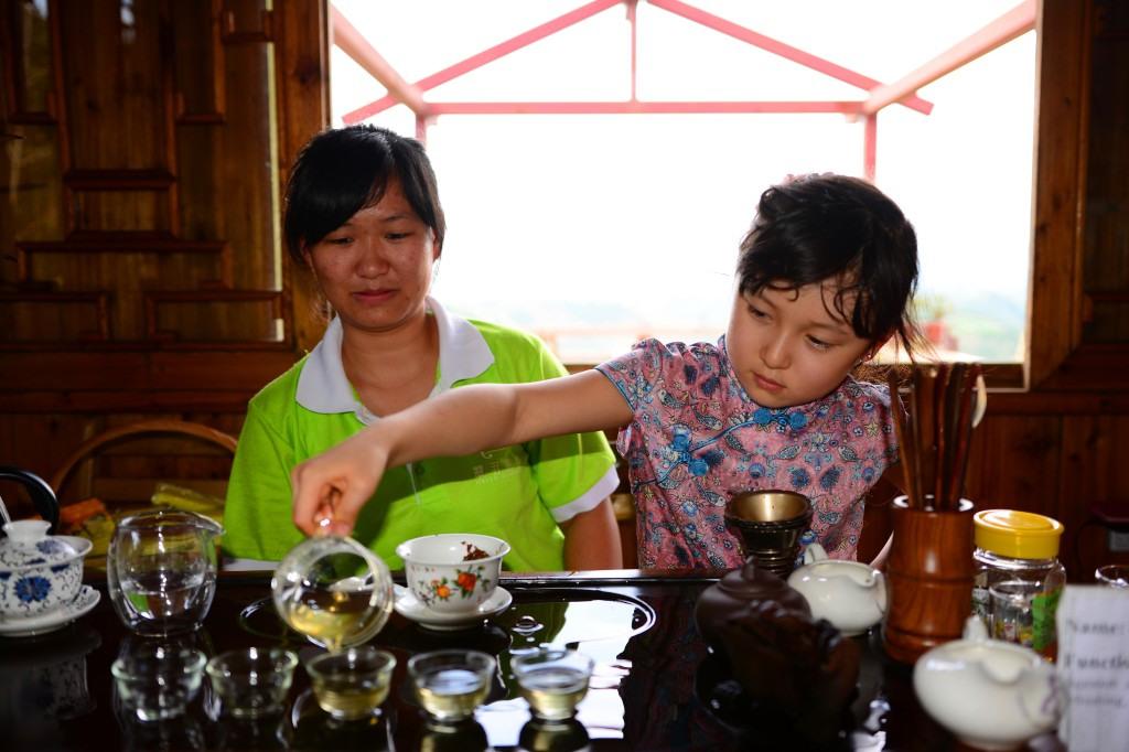 tea tasting after lunch