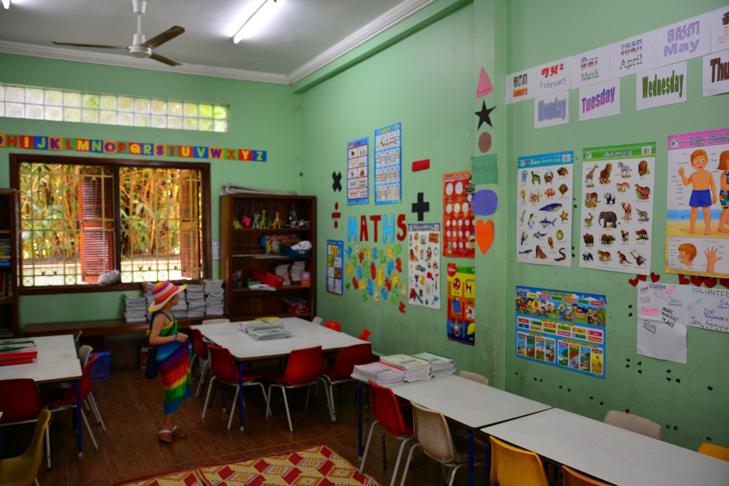 the classroom at New Hope's school