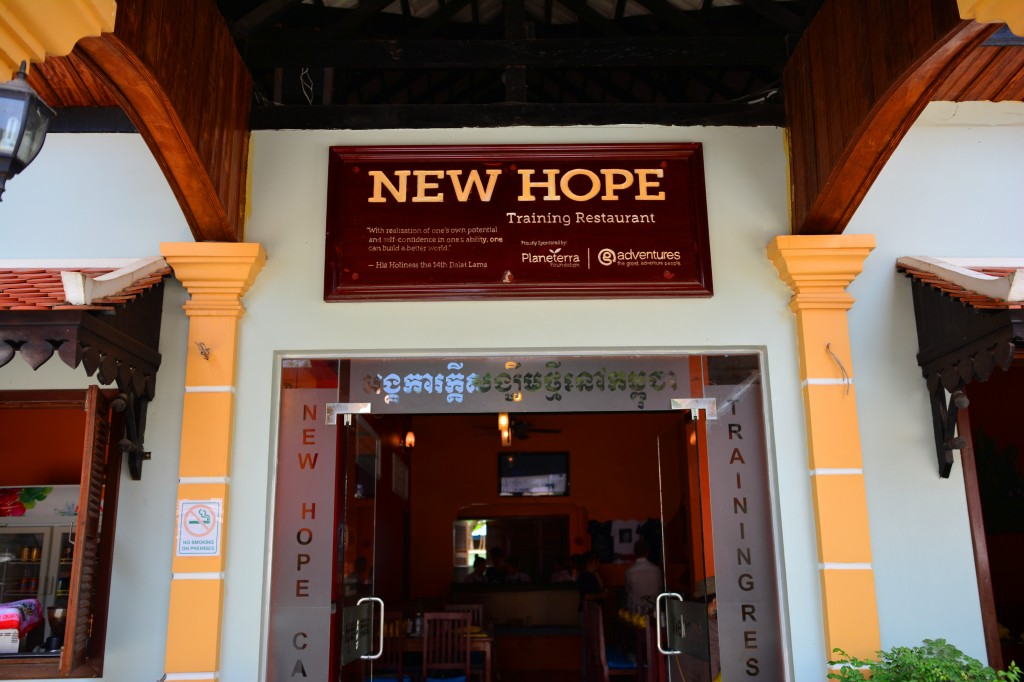 New Hope training restaurant operated by an NGO
