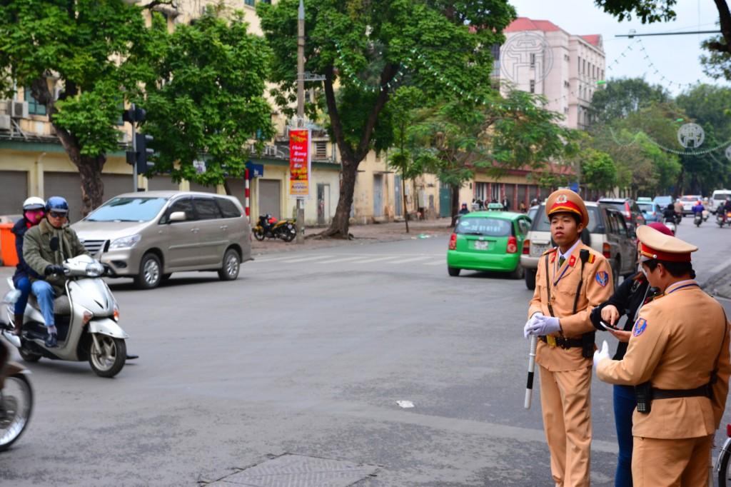 Vietnamese Police in their dashing uniforms