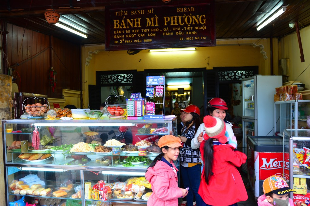 First stop in Hoi An -- Banh Mi Phuong