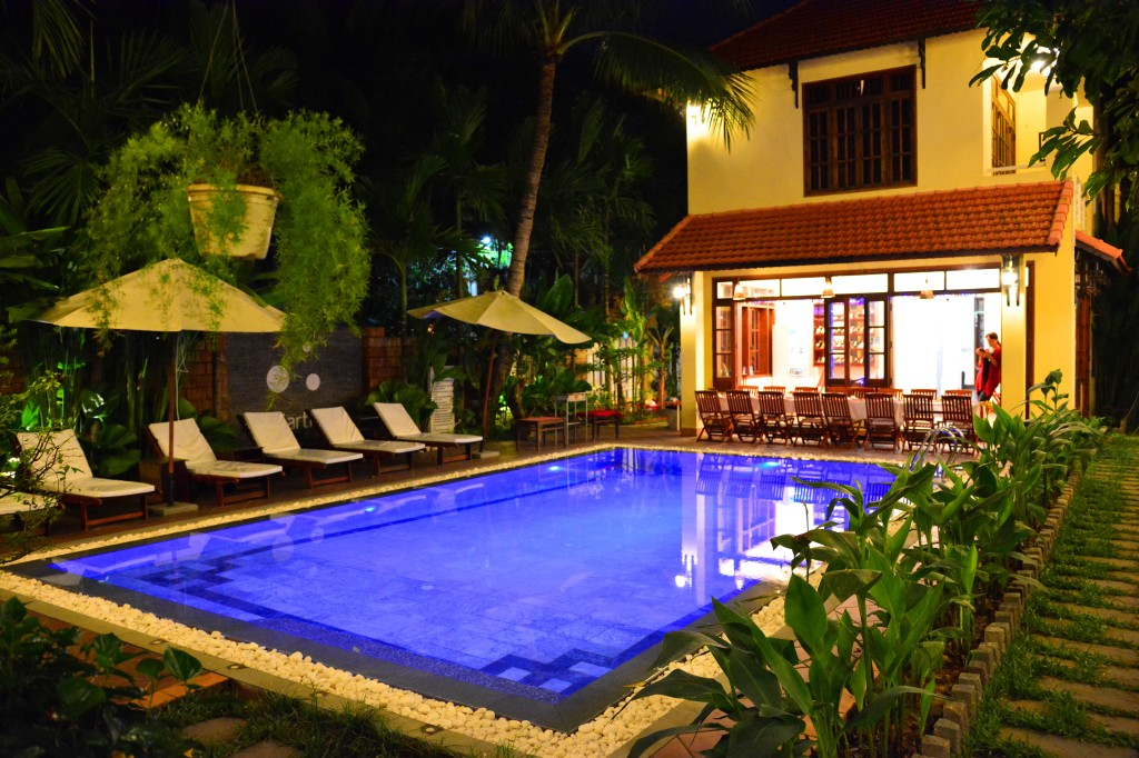 our home base in Hoi An, the Earth Villa.  The owner treated his guests to a 10-course homemade NYE dinner -- hands down the best meal we had in Hoi An