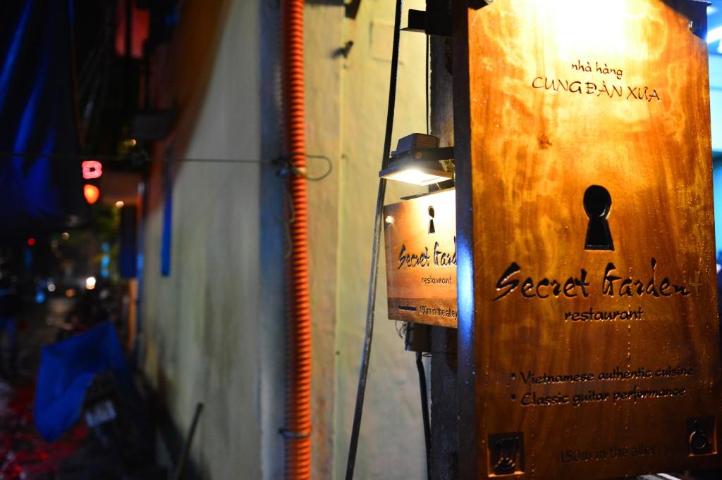 Secret Garden, a restaurant hidden deep in a small alley