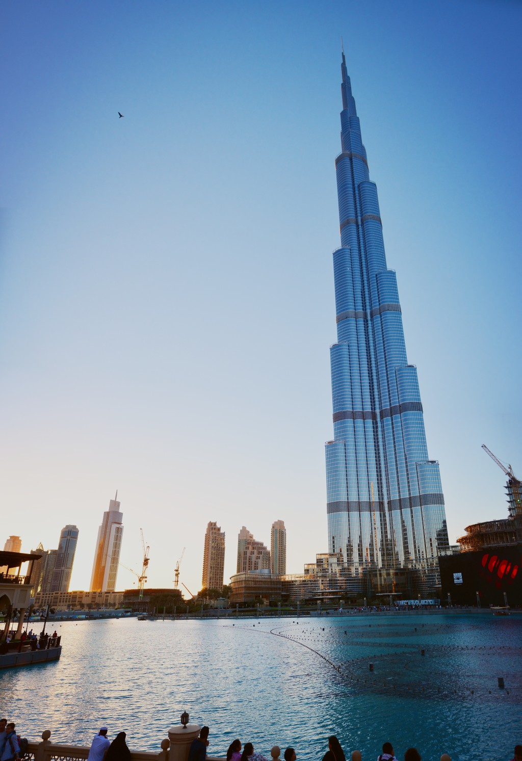 the Burj is so tall that to get it and the lake into one frame, I had to stitch a few shots together. A wider lens would be nice