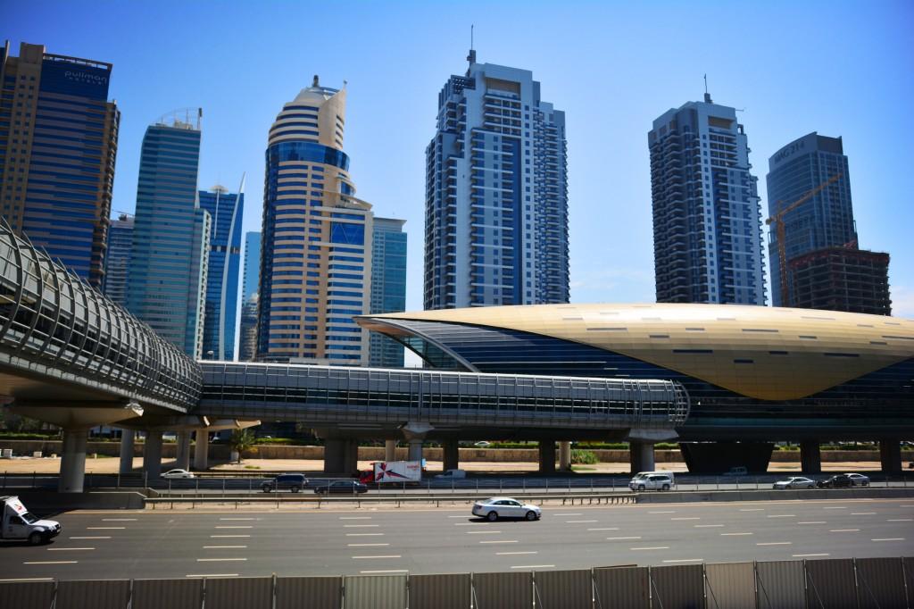 the futuristic Dubai Metro stations