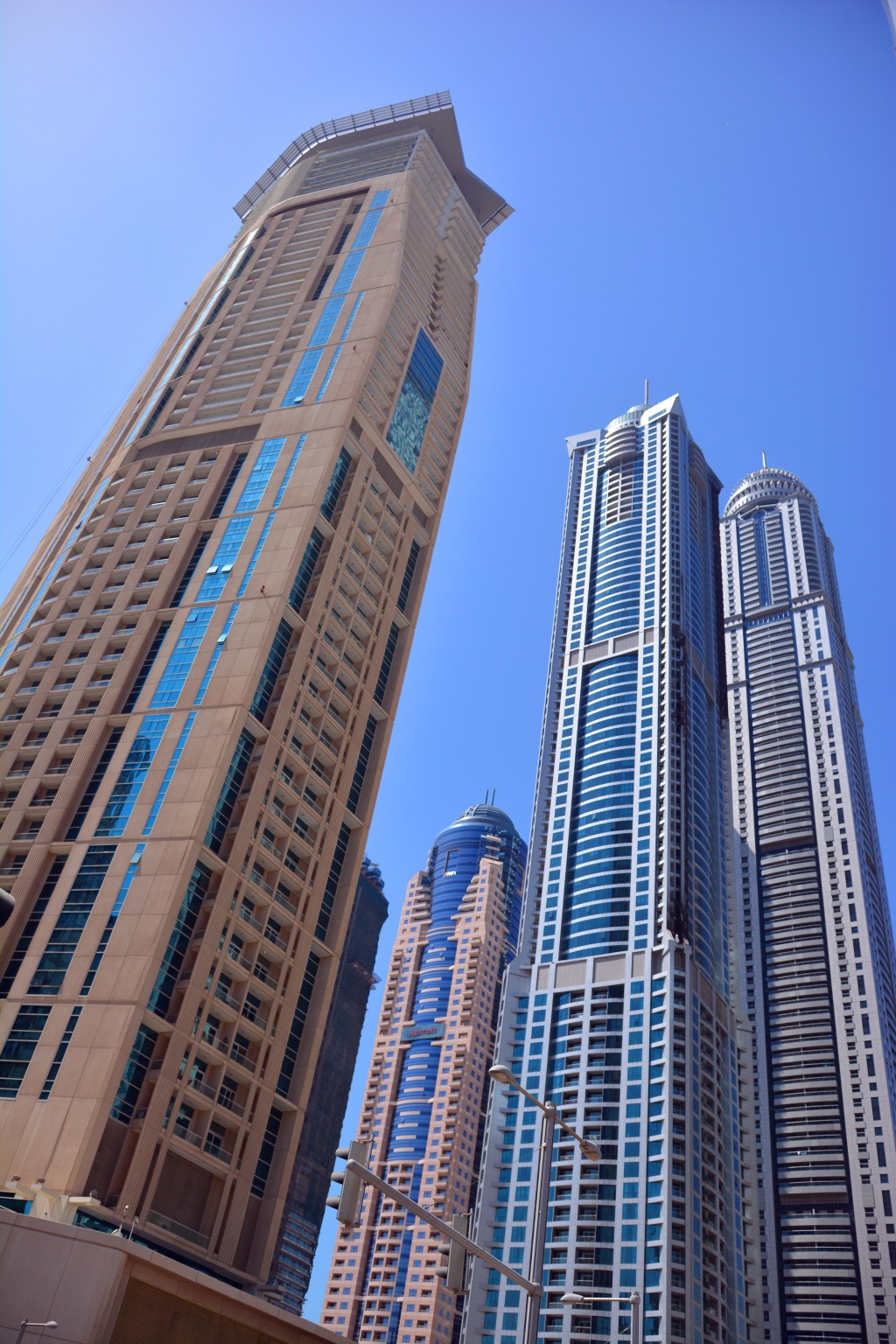 the building in the middle is the unfortunately named Dubai Torch, which got torched recently, see those charred edges?