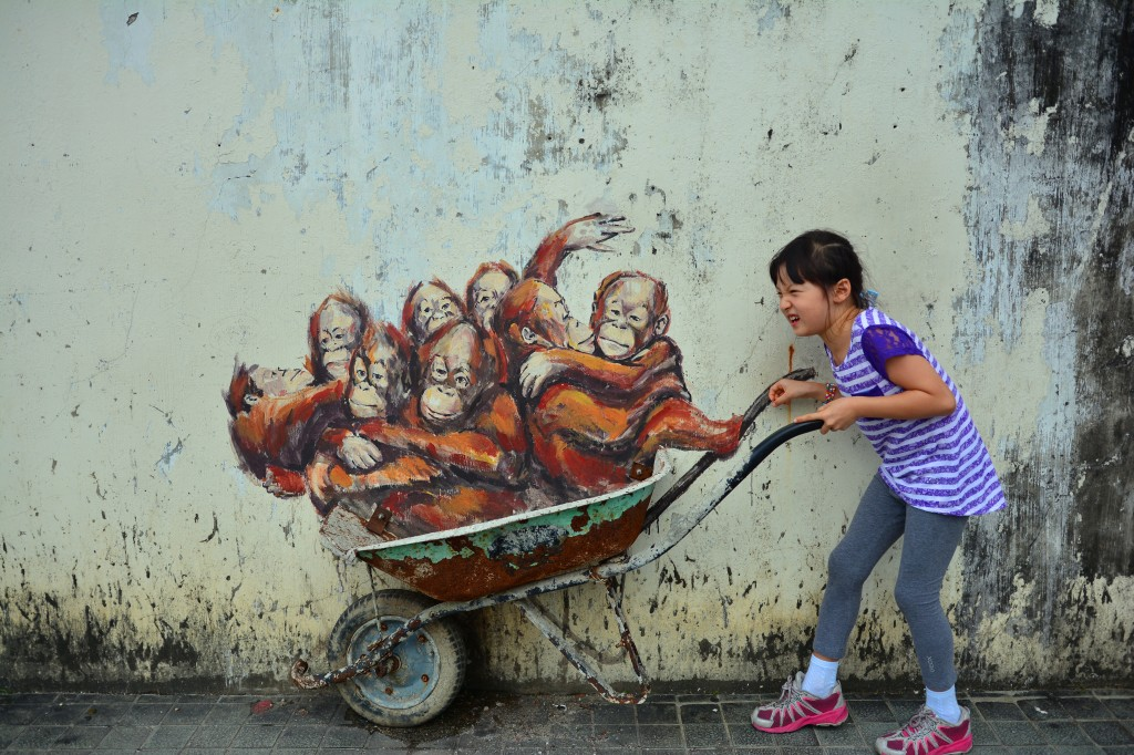 Ernest Zacharevic also left his mark in Kuching