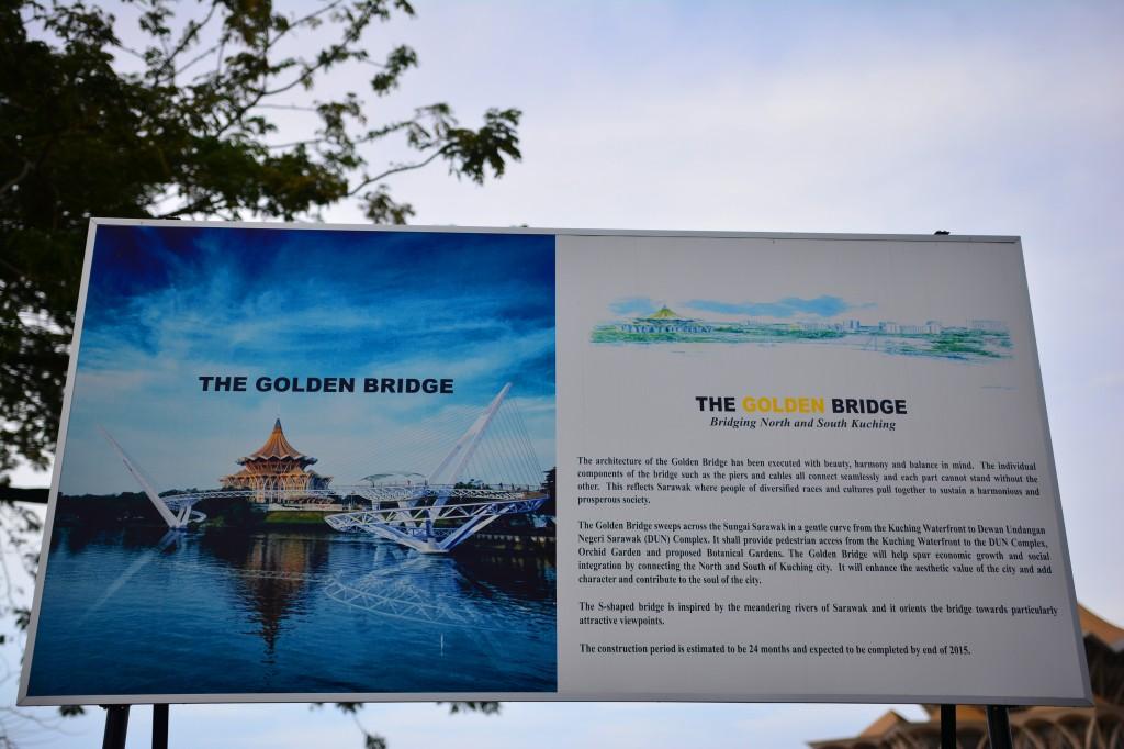 the white golden bridge